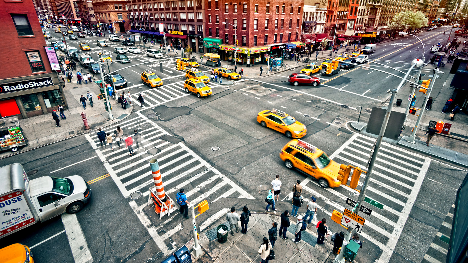 NYC crosswalk traffic