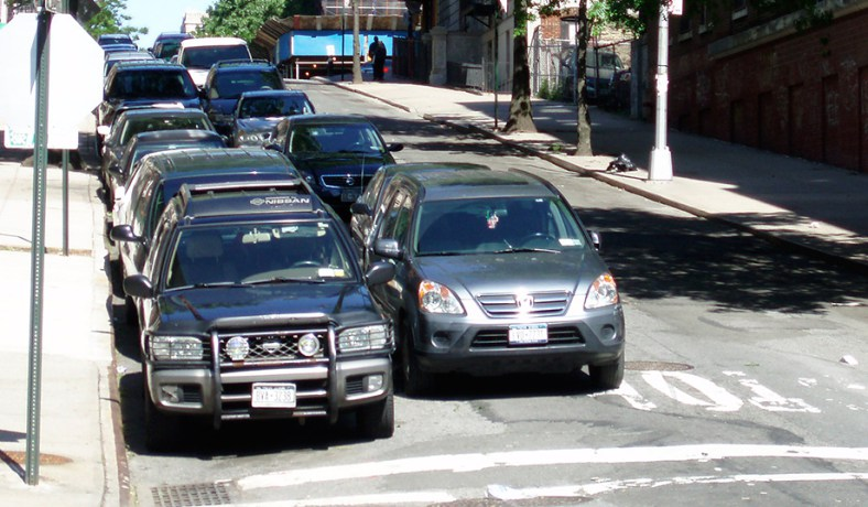 Double Parking During Alternate Side Parking
