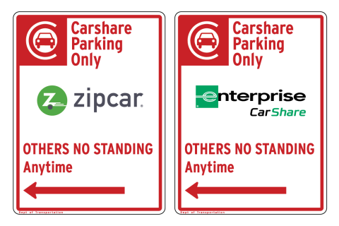 Carshare regulation sinage