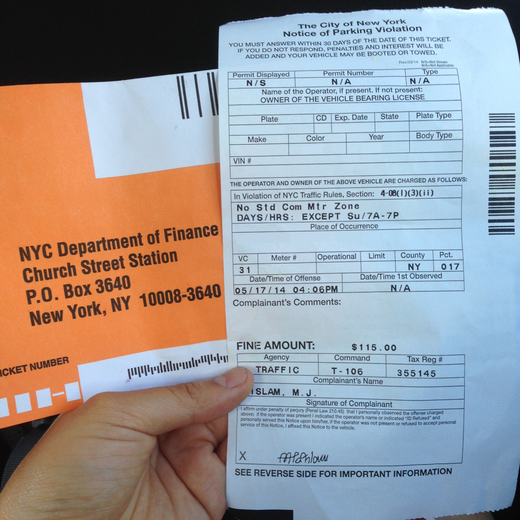 learn about a required element on a parking ticket