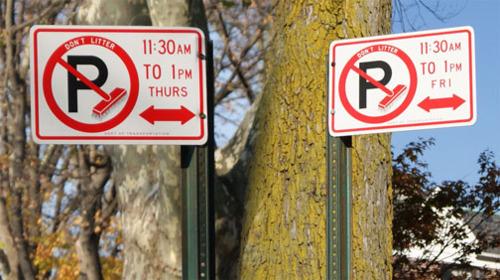 alternate side parking signs