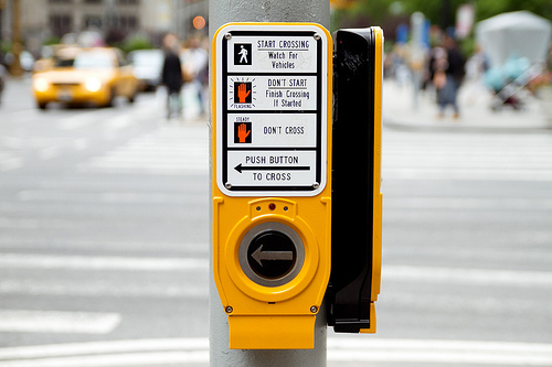 Crosswalk Buttons help pedestrians safely navigate city streets